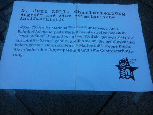 Text zum Anti-Antifa-Angriff am 5. Juni in Charlottenburg