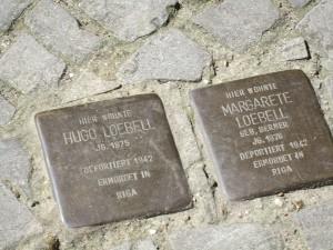 Stolpersteine für Hugo und Margarete Loebell in Wilmersdorf